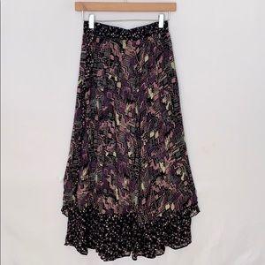 VINTAGE Boho Carole Little Tiered Maxi Skirt